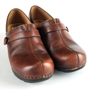 Dansko Solstice Leather Clogs Mules 9.5-10